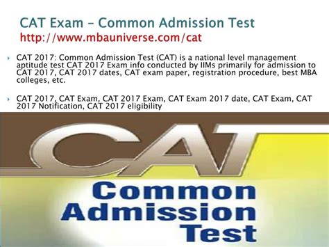 Mba Admission Without Cat by Ppt Cat 2017 Dates Registration Application