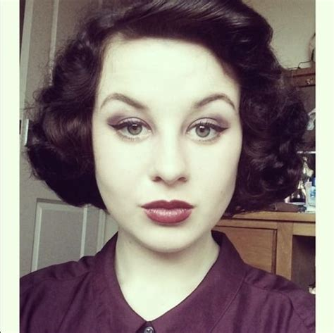 pin curls on a bob beautiful vintage and cut and style on pinterest