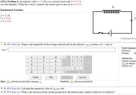 inductor questions and answers 10 problem 8 an inductor with l 5 5 his in a c chegg