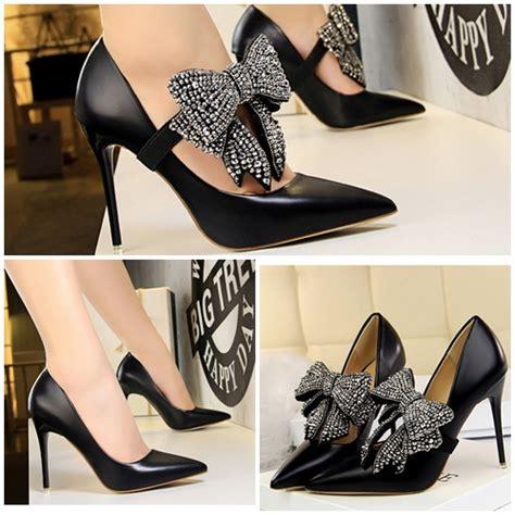 Sepatu High Heelspump Shoes Import 14cm Black jual shh17179 black sepatu pesta import wanita elegan 10