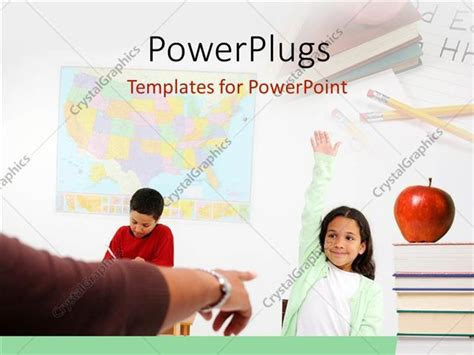 powerpoint template classroom depiction with