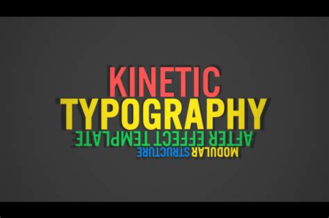 Colorful Kinetic Typography After Effects Template Filtergrade Kinetic Typography Adobe Premiere Template