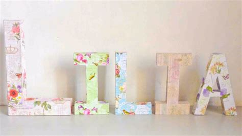 How To Make Decoupage Letters - how to make a decoupage kraft letter name display diy
