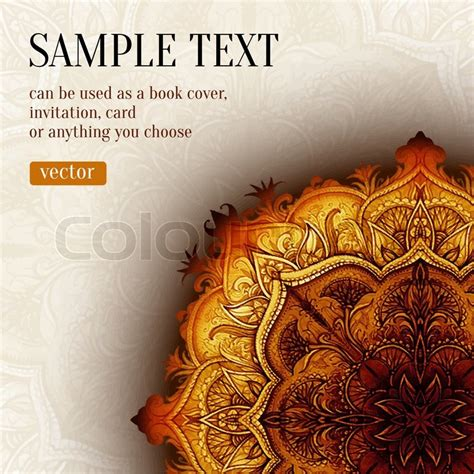 Indian Home Decoration Retro Vintage Wedding Greeting Card Vector Background