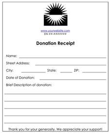 non profit donation receipt template non profit donation receipt