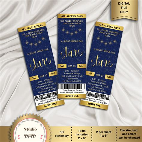 prom ticket template printable prom ticket invitation a the