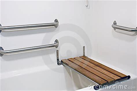 bench seat  handicap tub stock image image