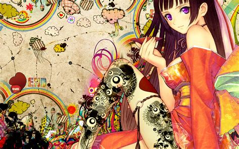 anime with leg tattoo wallpaper 17140