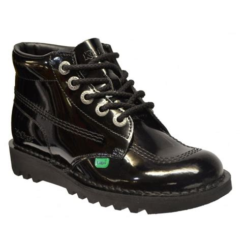 kickers boot femme black kickers kick hi w boots all sizes in various