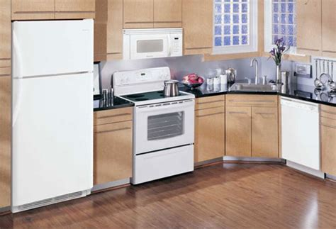 Almond Kitchen Cabinets Kitchen Appliance Packages Quickly Update The Style And