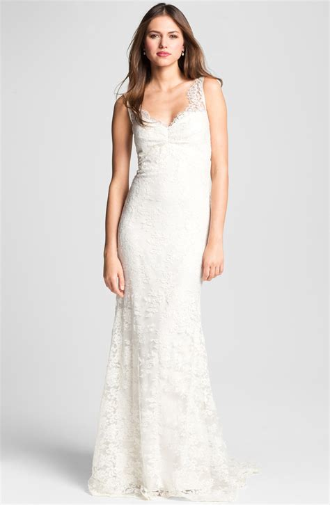 Trumpet Gown by Miller Sleeveless Lace Trumpet Gown