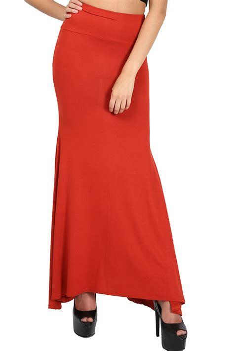 womens plus size maxi skirt plain stretchy