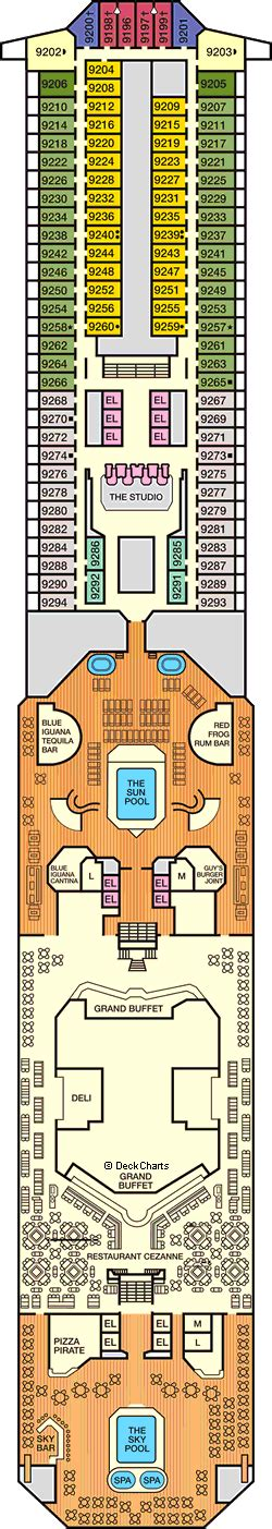 carnival conquest floor plan carnival conquest deck 9 lido deck cruise critic