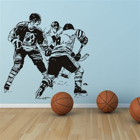 sports wall stickers hockey player sports wall stickers transfers