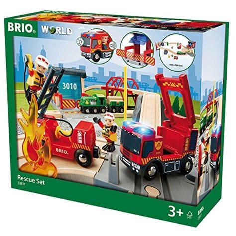 brio deluxe brio 33817 kolejka drewniana zestaw straży pożarnej