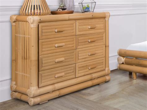 Commode En Bambou by Commode Dahlia 8 Tiroirs Bambou Style Voyage Ethnique