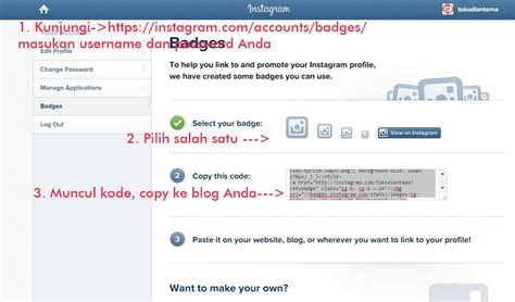 membuat badge instagram membuat badge instagram di blog blognya mas har
