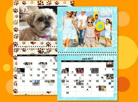 make a wall calendar create photo calendars custom wall calendars