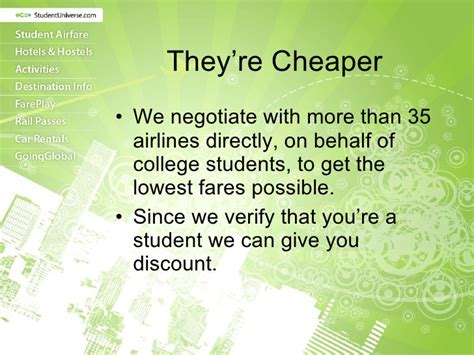 how are student airfares different