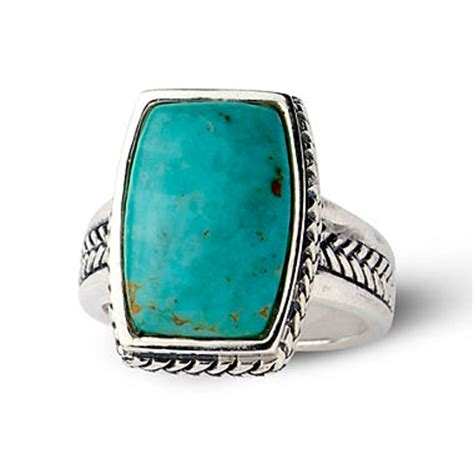 sterling silver genuine turquoise ring jcpenney