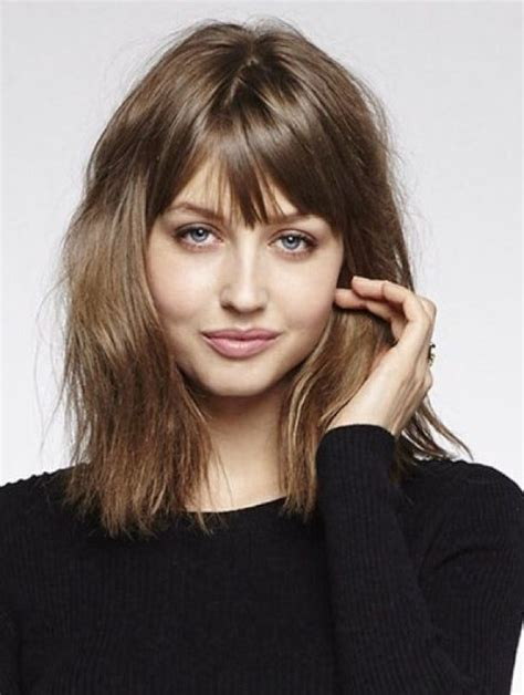 meduim length bobs with fringe fringe hairstyle haircuts with bangs to try now