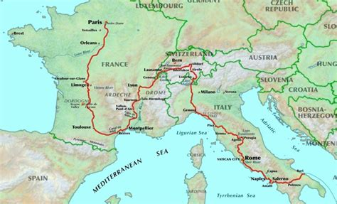 san francisco map italy the route