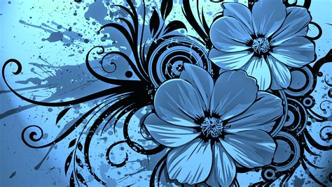spray flowers pattern backgrounds for presentation ppt