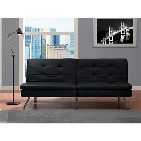 futon black dhp chelsea black futon 2009009 the home depot