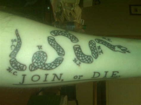 join or die tattoo join or die