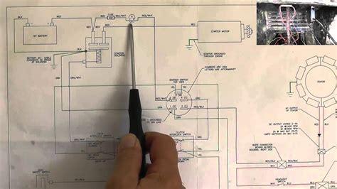 riding mower starting system wiring diagram part