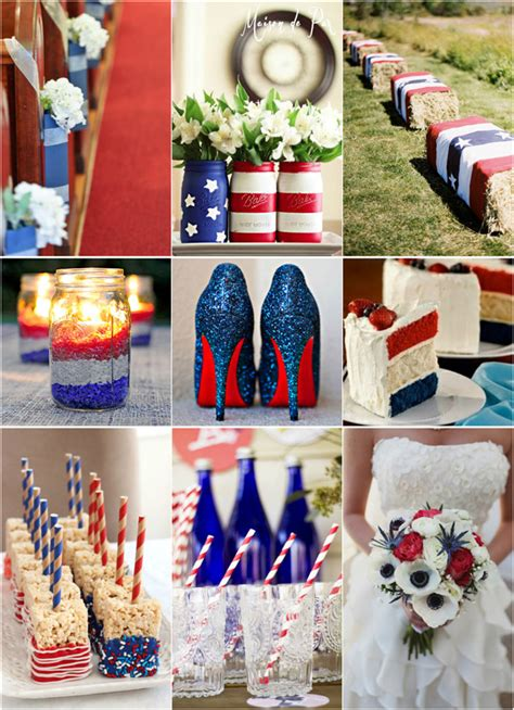 july wedding colors fourth of july inspired wedding ideas with white and