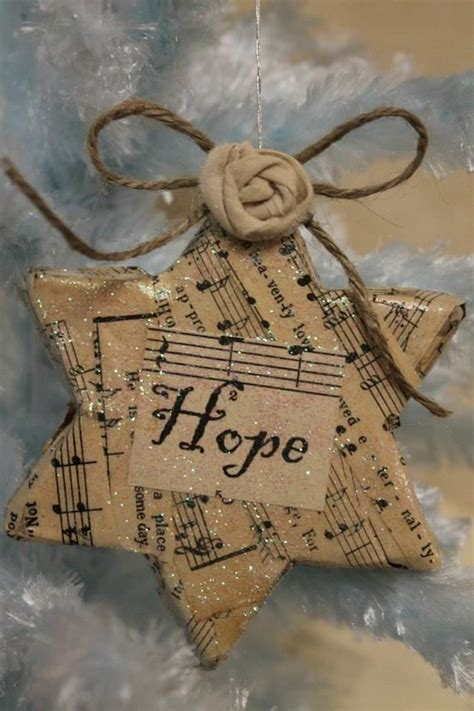 i love all the sheet music ideas christmas ornaments