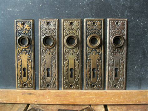 Antique Door Knob Backplates by Antique Door Knob Backplate Bronze Wash Backplates Eastlake