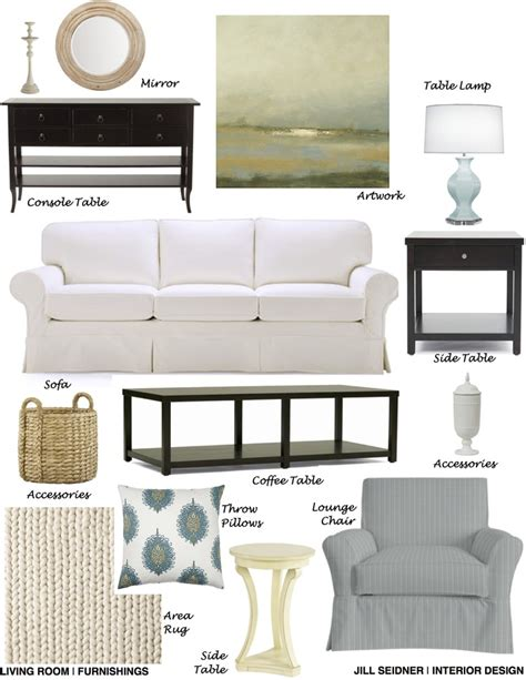 living room furnishings concept board jill seidner boston ma online design project living room furnishings