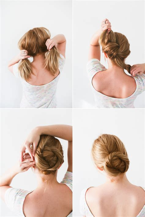 Wedding Hair Bun Tutorial by Diy Twisted Bun Hair Tutorial Wedding Hair Ideas