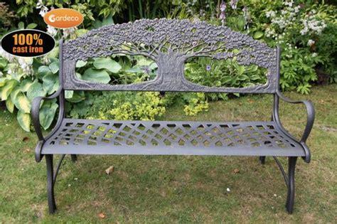 metal tree bench garden solid cast iron bench garden metal bench with tree outdoor