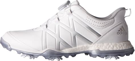 adidas adipower boost boa golf shoes white silver discount prices for golf equipment