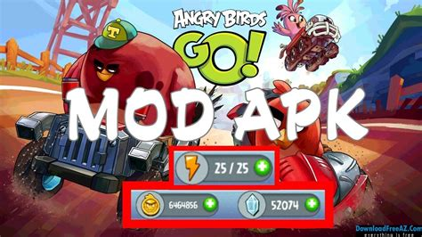 angry birds mod apk angry birds go v2 7 3 apk mod unlimited coins gems android free downloadfreeaz