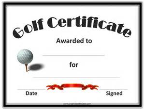 Golf Certificate Templates by Golf Awards