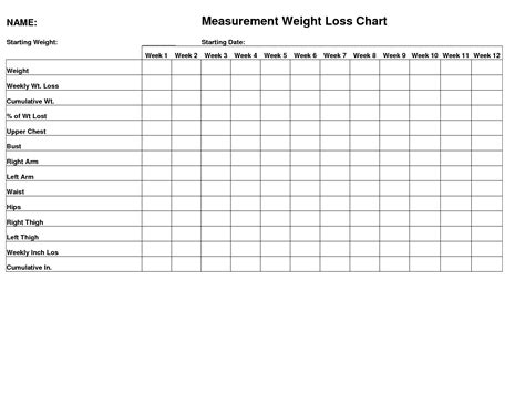 measurements template 5 best images of weight diagram exles weight lifting
