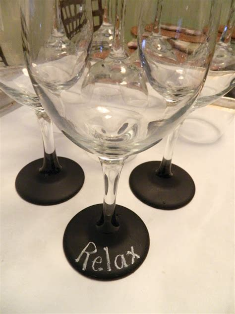 chalkboard paint ideas wine glasses custom wine glass labels to personalize your drinks