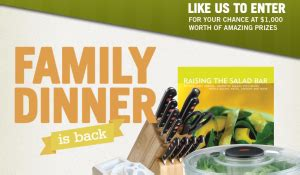 Mrs Cubbison S Sweepstakes - mrs cubbison s quot family dinner is back quot sweepstakes win a grand prize worth 1 000