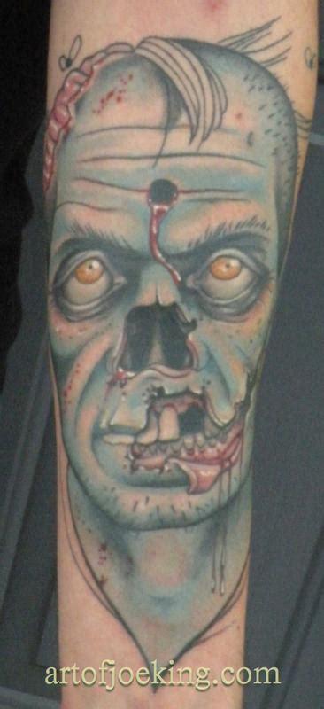 Zombie Tattoo Joe Instagram | headshot zombie tattoo by joe king tattoonow