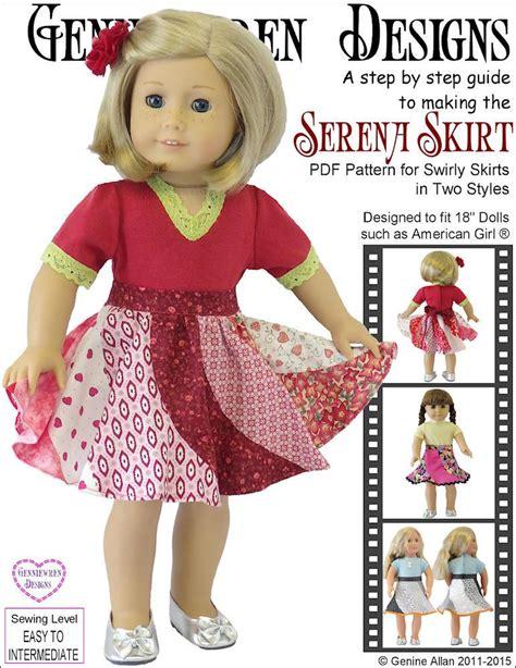 design 18 inch doll clothes genniewren designs serena skirt doll clothes pattern 18