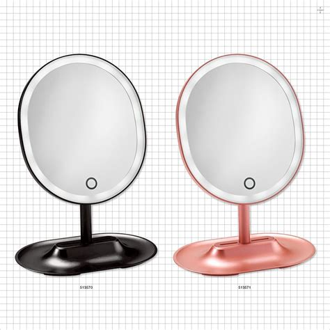 oval lighted makeup qosmedix oval led lighted table top cosmetic mirrors