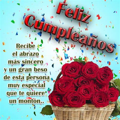 imagenes bonitas de feliz cumpleaños tia mensajes de cumplea 241 os de amor con rosas tarjetas de
