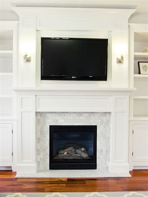 Perfection Fireplace by The Built Ins Fireplace Tile Sconces Floor And