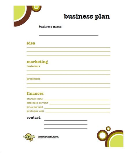 business plan templates 43 examples in word free premium