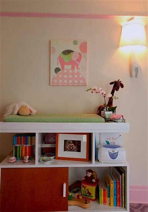 changing table bookcase baby nursery decor changing tables