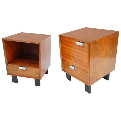 George Nelson Walnut Nightstands For Herman Miller At 1stdibs Herman Miller Bedroom Furniture